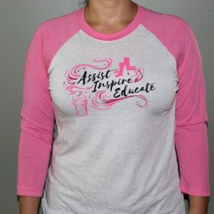 Pink Raglan Shirt, X-Large